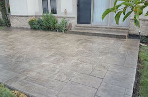 stamped colored concrete patio